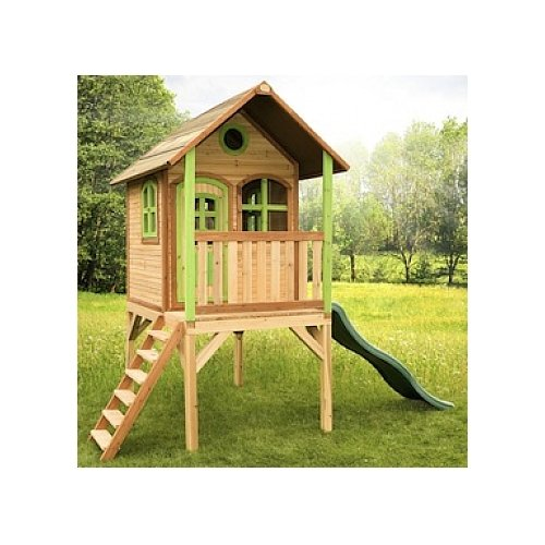 axi kinder spielhaus laura mit terrasse stelzenhaus hoch. Black Bedroom Furniture Sets. Home Design Ideas