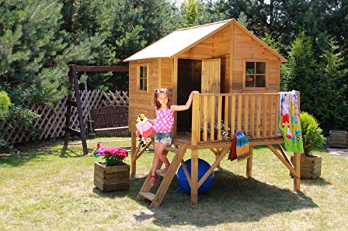 baumotte spielhaus holz kinderspielhaus max mit. Black Bedroom Furniture Sets. Home Design Ideas
