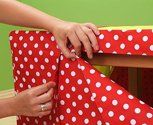 betzold tischzelt, kinderzelt, aufklappbare fenster mit ... - Kinderzimmer Rot Weis Gepunktet