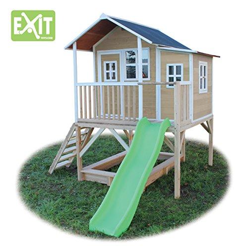 exit loft 550 natur spielh uschen auf stelzen mit veranda rutsche sandkasten zedernholz. Black Bedroom Furniture Sets. Home Design Ideas