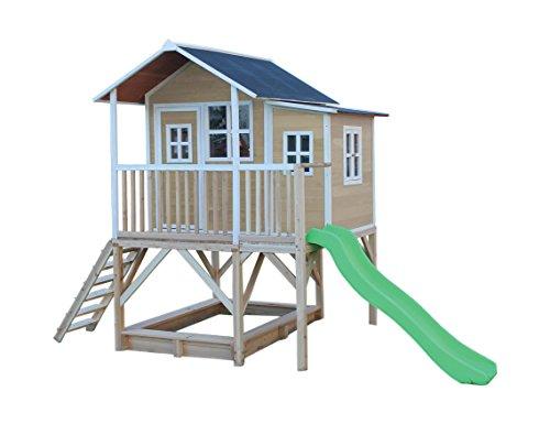 5a6e3804ca EXIT Loft 550 natur / Spielhäuschen auf Stelzen mit Veranda+Rutsche ...