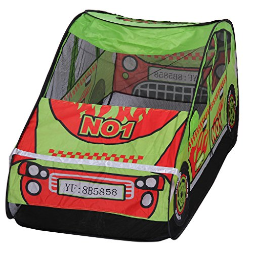 excelvan kinderzelt spielzelt kinderspielzelt auto form zelt spielhaus kinderspielhaus f r. Black Bedroom Furniture Sets. Home Design Ideas