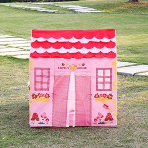 Excelvan-Kinderzelt-Spielzelt-Kinderspielzelt-Zimmerzelt-Pop-Up-Zelt-Spielhaus-Kinderspielhaus-fr-Mdchen-Kinderzimmer-drinnen-und-drauen-rosa-0-0