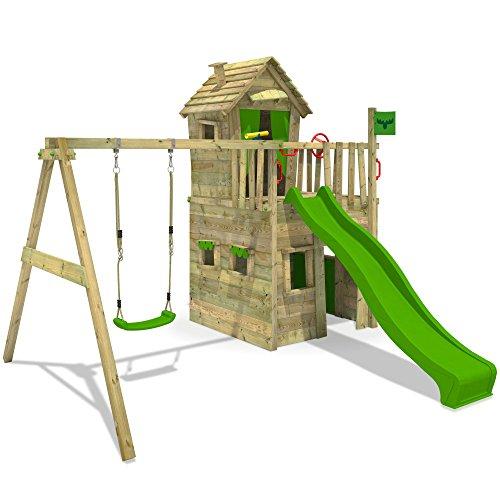 fatmoose kletterturm crazycat spielturm spielhaus f r. Black Bedroom Furniture Sets. Home Design Ideas