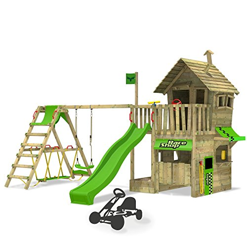 fatmoose kletterturm rebelracer spielturm baumhaus spielger t garten mit rutsche schaukel und. Black Bedroom Furniture Sets. Home Design Ideas