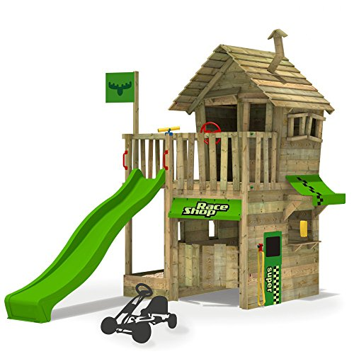 fatmoose kletterturm rebelracer spielturm baumhaus spielger t garten mit apfelgr ner rutsche. Black Bedroom Furniture Sets. Home Design Ideas