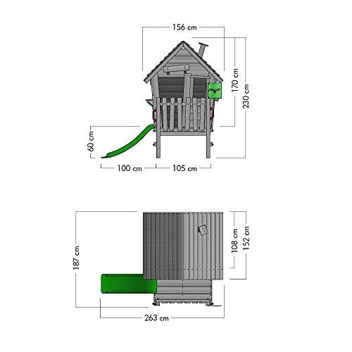 fatmoose spielhaus vanillavilla joy xxl stelzenhaus. Black Bedroom Furniture Sets. Home Design Ideas