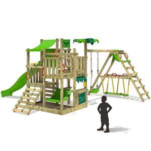 wickey spielturm multiflyer kletterturm mit holzdach. Black Bedroom Furniture Sets. Home Design Ideas