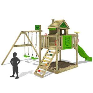fatmoose stelzenhaus rockyranch roll xxl spielturm mit doppelschaukel rutsche sandkasten. Black Bedroom Furniture Sets. Home Design Ideas