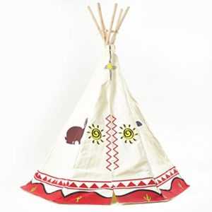 Garden-Games-3025-Kinder-Wigwam-Spiel-Zelt-Tipi-traditionelle-Wild-West-Cowboys-und-Indianer-Design-0-0