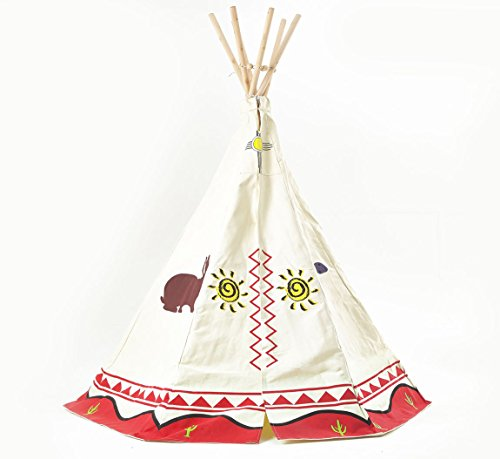 garden games 3025 kinder wigwam spiel zelt tipi traditionelle wild west cowboys und. Black Bedroom Furniture Sets. Home Design Ideas