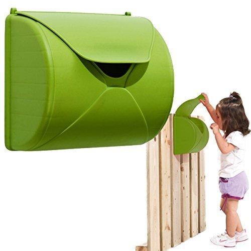 kinder briefkasten f r spielturm oder spielhaus farbe apfelgr n spielhaus. Black Bedroom Furniture Sets. Home Design Ideas