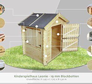 Kinder-Spielhaus-Leonie-105-x-130-Meter-aus-19mm-Blockbohlen-Kinder-Gartenhaus-Kinderspielhaus-Kinderhaus-Spielhaus-Holz-inkl-Dachpappe-und-Fuboden-0-0
