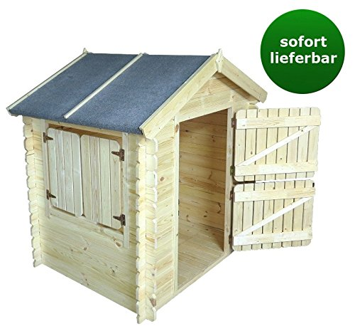 kinder spielhaus leonie 1 05 x 1 30 meter aus 19mm blockbohlen kinder gartenhaus. Black Bedroom Furniture Sets. Home Design Ideas