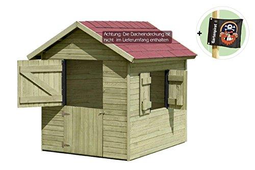 kinderspielhaus marie 1 5 x 1 2 m x 1 60 aus holz von gartenpirat spielhaus. Black Bedroom Furniture Sets. Home Design Ideas