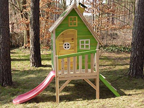 kinderspielhaus maya stelzenhaus aus holz mit rutsche spielhaus. Black Bedroom Furniture Sets. Home Design Ideas