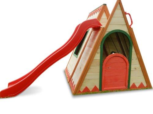 kinderspielhaus tini spielhaus aus holz mit rutsche spielhaus. Black Bedroom Furniture Sets. Home Design Ideas