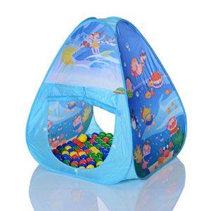 LCP-KIDS-Pop-Up-Spielzelt-Ocean-Pyramide-als-Kinder-Spielhaus-und-Bllebad-mit-100-Bllen-0-0