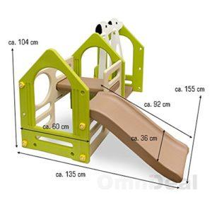 LittleTom-Kinder-Spielhaus-mit-Rutsche-Schaukel-155-x-135-cm-Kunststoff-Spiel-Turm-Kletter-Haus-fr-Drinnen-Drauen-Premium-Qualitt-0-0