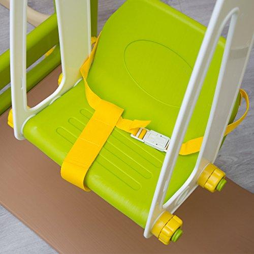 littletom kinder spielhaus mit rutsche schaukel 155 x 135 cm kunststoff spiel turm kletter. Black Bedroom Furniture Sets. Home Design Ideas