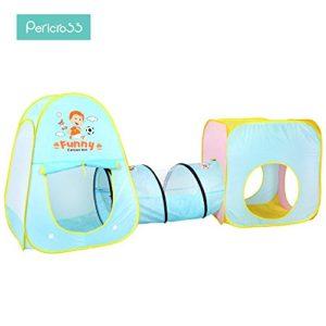 Pericross-3-Teilig-Kinder-Bllebad-Spielzelt-Krabbeltunnel-2-Bllebad-fr-Unisex-unter-3-Jahren-0-0