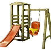 wickey stelzenhaus smart resort spielturm kletterturm mit schaukel holzdach kletterleiter. Black Bedroom Furniture Sets. Home Design Ideas