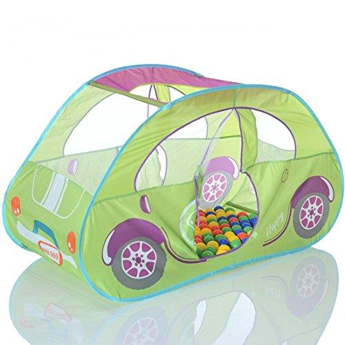 pop up spielzelt auto spielhaus und b llebad mit 100. Black Bedroom Furniture Sets. Home Design Ideas