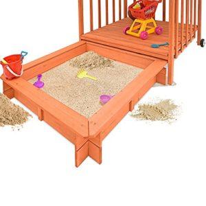 Sandkasten-Dach-Spielveranda-Holz-Spielhaus-Sonnenschutz-Deckel-Sandbox-0-0