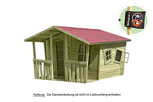 spielhaus gartenhaus lisa fun aus holz 207x200 cm von gartenpirat spielhaus. Black Bedroom Furniture Sets. Home Design Ideas