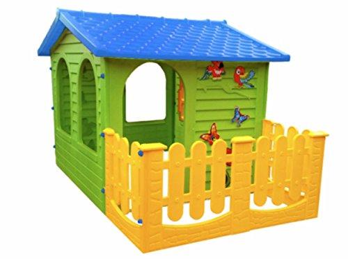 spielhaus kinderspielhaus mit terrasse xxl f r drinnen und drau en gartenhaus kinderhaus blau. Black Bedroom Furniture Sets. Home Design Ideas