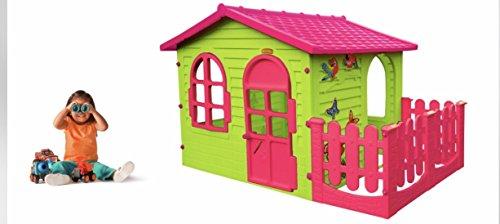 spielhaus kinderspielhaus mit terrasse xxl f r drinnen und drau en pink gartenhaus kinderhaus. Black Bedroom Furniture Sets. Home Design Ideas