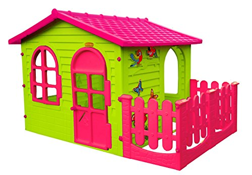 spielhaus kinderspielhaus mit terrasse xxl f r drinnen und drau en pink gartenhaus kinderhaus. Black Bedroom Furniture Sets. Home Design Ideas