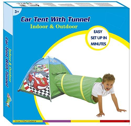spielzelt kinder f r junge cars auto mit tunnel spielhaus f r innen au en drau en in sch ne. Black Bedroom Furniture Sets. Home Design Ideas