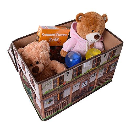 te trend stoff spielhaus spielbox verschiedene motive aufbewahrungsbox mit deckel aufklappbar. Black Bedroom Furniture Sets. Home Design Ideas