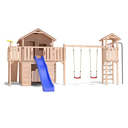 velikano baumhaus stelzenhaus spielhaus schaukel kletterturm rutsche holz spielhaus. Black Bedroom Furniture Sets. Home Design Ideas