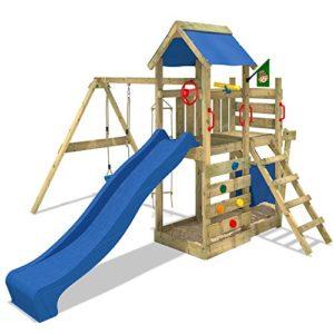 WICKEY-Spielturm-SeaFlyer-Spielgert-Garten-Kletterturm-mit-Schaukel-Rutsche-und-viel-Zubehr-0-0