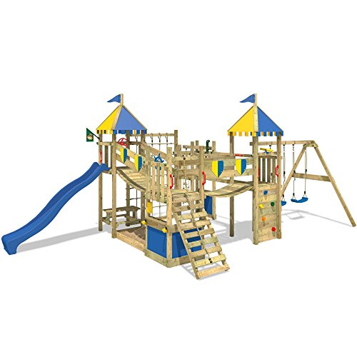 wickey spielturm smart king spielplatz holz kletterturm mit schaukel rutsche und kletterwand. Black Bedroom Furniture Sets. Home Design Ideas