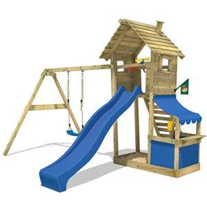 WICKEY-Spielturm-Smart-Shop-Kletterturm-Schaukel-Rutsche-Sandkasten-0